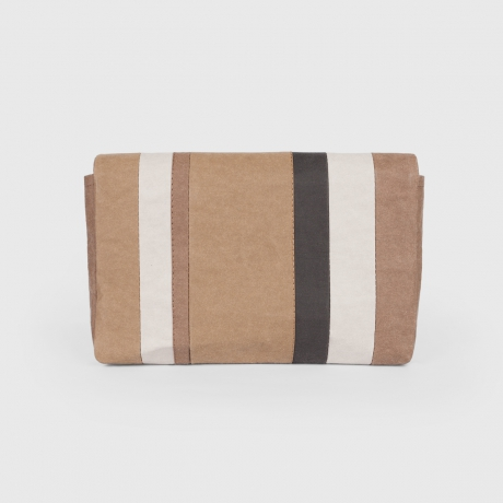 Клатч STRIPED KRAFT OLIVE